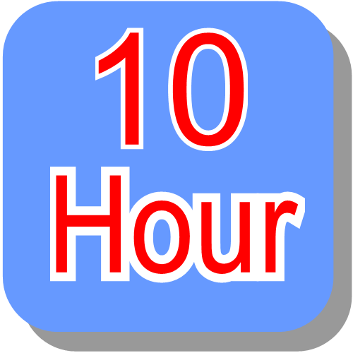10 hour block booking